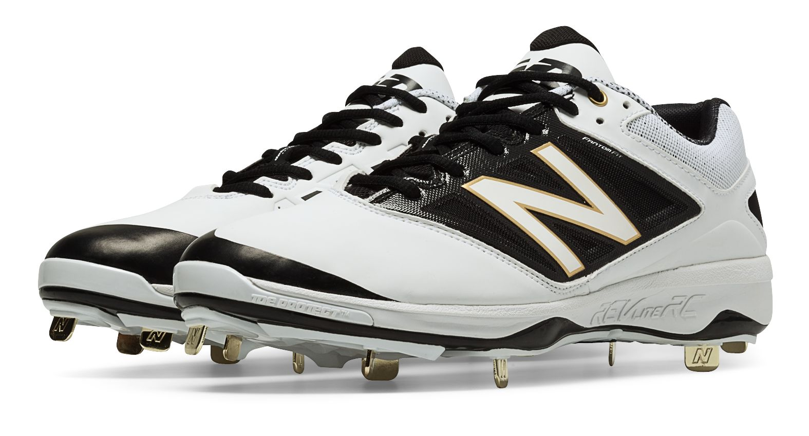 3N2 5345-06-75 Dom-N-8 Metal Fastpitch Cleats, White - Size 7.5
