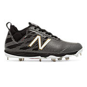 Low-Cut 406 Metal Cleat, Black with White