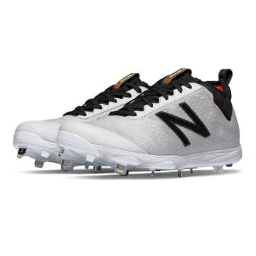 New Balance Low-Cut 406 Metal Cleat, White with Black