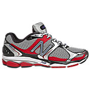New Balance 1080v2, Black with Silver & Red