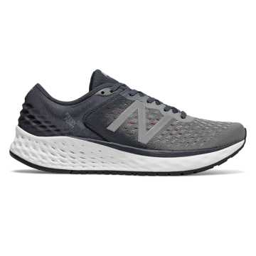 Men's Fresh Foam 1080v9, Gunmetal with Outer Space & Energy Red