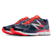 New Balance 1080v5, Neon Orange with Blue Smoke