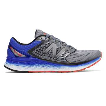 New Balance Fresh Foam 1080, Silver with Blue & Flame