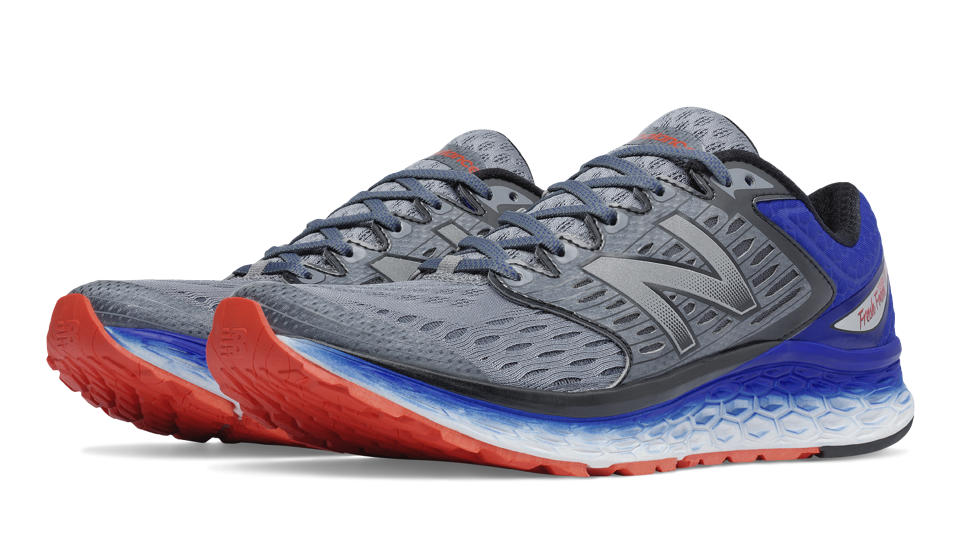 New Balance Fresh Foam 1080, Silver with Blue \u0026amp; Flame