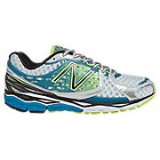 New Balance 1080v3, White with Blue Atoll & Yellow