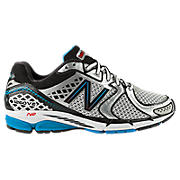 New Balance 1260v2, Black with Silver & Blue Atoll