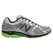 New Balance 1260v2, Silver with Lime Green & Black