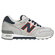New Balance 1300, Grey with Navy Blue & Orange