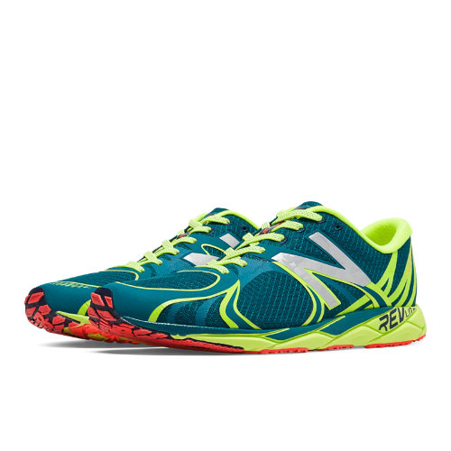 1400v3 Men's Racing Flats Shoes - Lake Blue, Hi-Lite (M1400BY3)