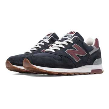 New Balance 1400 Heritage, Navy with Burgundy & Grey