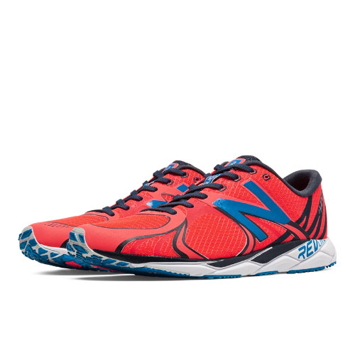 1400v3 Men's Racing Flats Shoes - Bright Cherry, Orca (M1400RB3)