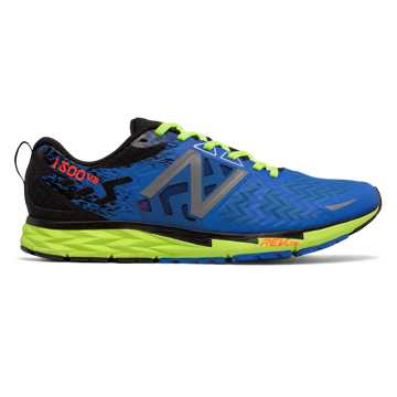 New Balance New Balance 1500v3, Electric Blue with Lime Glo & Black