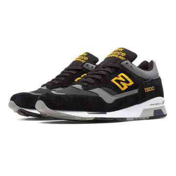 New Balance 1500 Made in UK, Black with Yellow