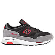 New Balance 1500, Black with Grey & Really Red