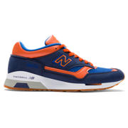 NB 1500 Nubuck, Navy with Orange