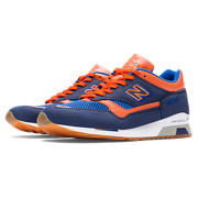 NB 1500 Nubuck, Navy with Orange
