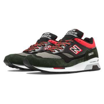 New Balance 1500 90s Outdoor, Black with Charcoal & Red