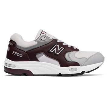 New Balance 1700 Age of Exploration, Light Grey with Burgundy