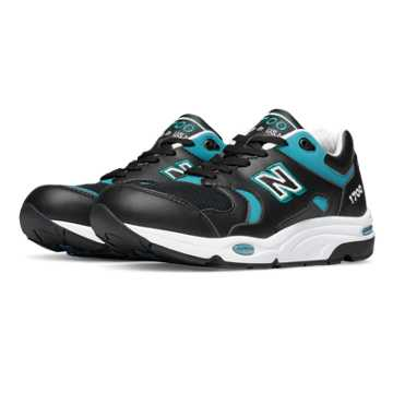 New Balance 1700 Explore by Air, Black with Teal