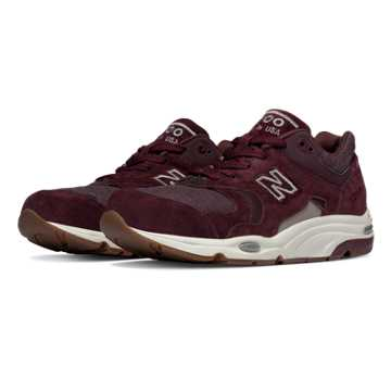 New Balance 1700 Explore by Sea, Burgundy with Brown