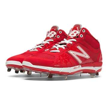 New Balance Mid-Cut 3000v2 Metal Cleat, Red
