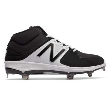 Mid-Cut 3000v3 Metal Cleat, Black with White
