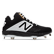 Mid-Cut 3000v4 Metal Cleat, Black with White