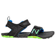 Minimus Vibram Sandal, Black with Blue & Lime Green