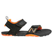 Minimus Vibram Sandal, Black with Orange