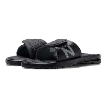 New Balance Rev Plush H2O Slide, Black with Grey