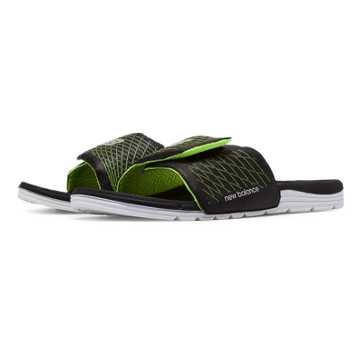 New Balance Cush+ Slide, Black with Lime