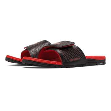 New Balance Cush+ Slide, Black with Red