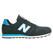 New Balance 373, Black with Navy Blue & Blue