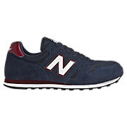 New Balance 373, Navy with White & Brown