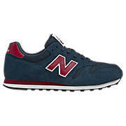 New Balance 373, Navy with Red