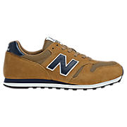 New Balance 373, Tan with Navy