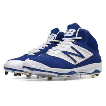 New Balance Mid-Cut 4040v3 Metal Cleat, Royal Blue with White