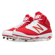 Mid-Cut 4040v3 Metal Cleat, Red with White