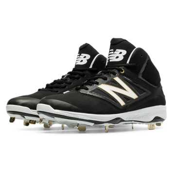 New Balance Mid-Cut 4040v3 Metal Cleat, Black