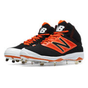 Mid-Cut 4040v3 Metal Cleat, Black with Orange