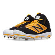 Mid-Cut 4040v3 Metal Cleat, Black with Yellow