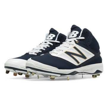 New Balance Mid-Cut 4040v3 Metal Cleat, Navy