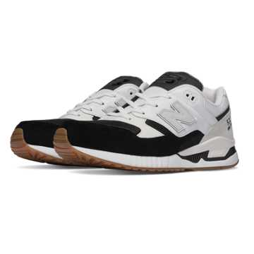 New Balance 530 Summer Waves, Black with White