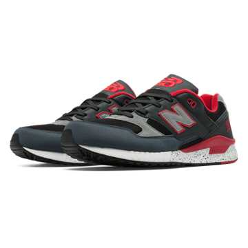 New Balance 530 90s Running Remix, Grey with Red & Black