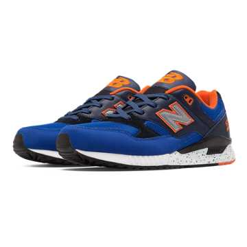 New Balance 530 90s Running Remix, Blue with Black & Orange