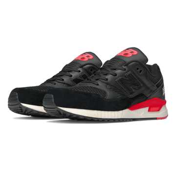 New Balance 530 Elite Edition Lost Classics, Black with Red