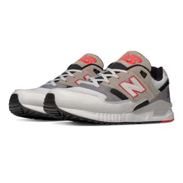 New Balance 530 Elite Edition Lost Mixes, White with Grey & Black