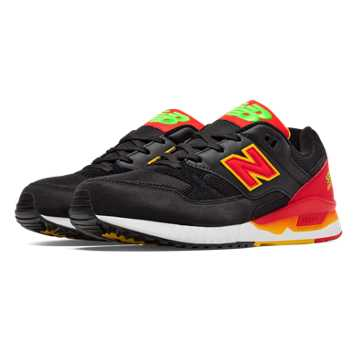 New Balance 530 Elite Edition Pinball, Black with Red & Yellow