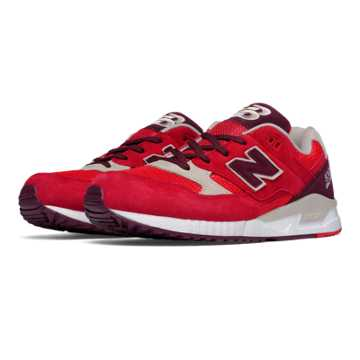 New Balance 530 Elite Edition Paper Lights, Red with Chocolate Cherry & Oyster