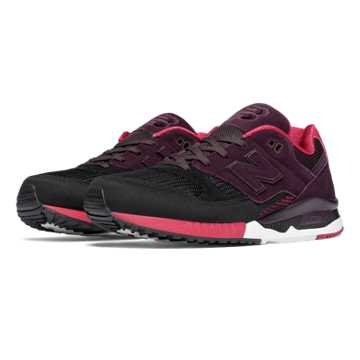 New Balance 530 Bionic Boom, Black with Blackberry & Red
